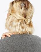 Asos Open Twist Circle Hair Clip - Gold