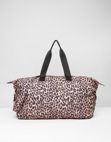 Asos Lifestyle Slouchy Leopard Carryall - Multi