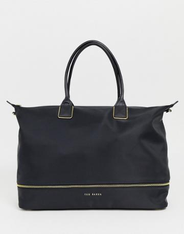 Ted Baker Emiia Extendable Zip Weekend Bag-black