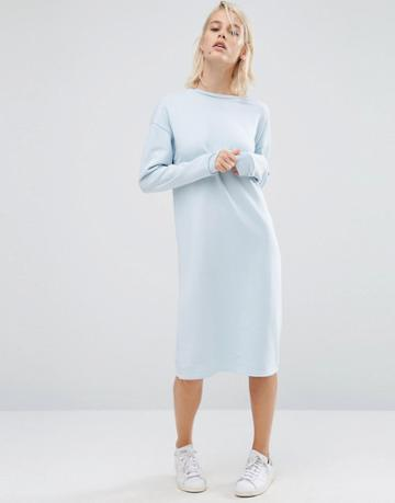 Asos Oversized Sweat Dress - Blue