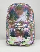 Spiral Rainbow Sequins Backpack - Multi