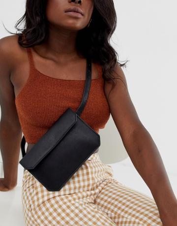 Asos Design Flat Fanny Pack - Black
