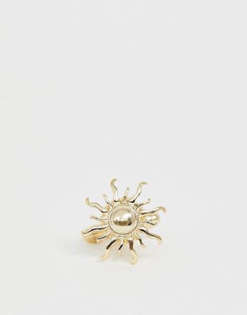 Asos Design Sun Cuff Links In Gold Tone - Gold
