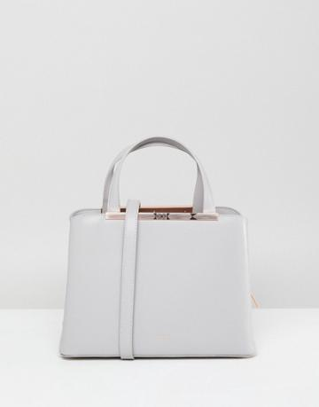 Ted Baker Smooth Leather Tote Bag - Gray