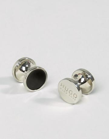 Hugo By Hugo Boss E-tokeep Round Cufflinks In Black - Black