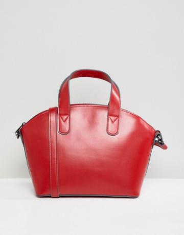 Asos Design Structured Mini Tote Bag - Red