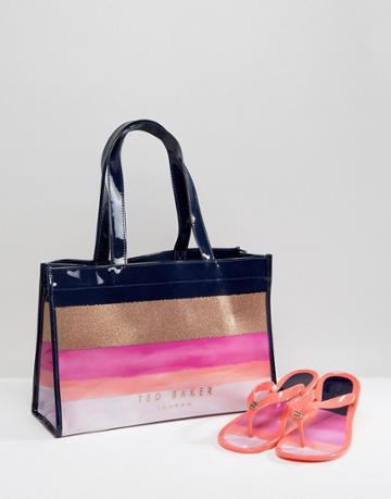 Ted Baker Julias Marina Mosaic Bag And Flipflop Set - Multi