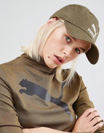 Puma Exclusive To Asos Logo Cap In Khaki - Green