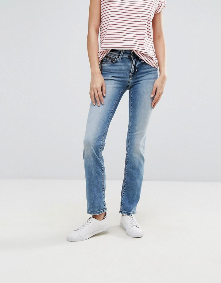Only Ella Straightcut Jeans - Blue