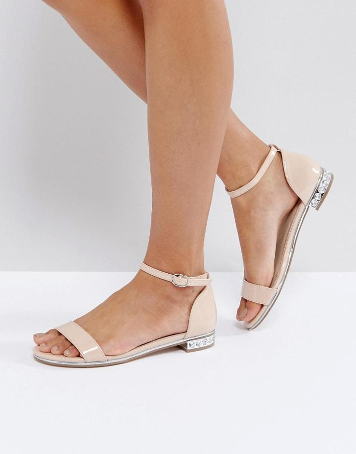 Asos Fleetwood Flat Sandals - Beige