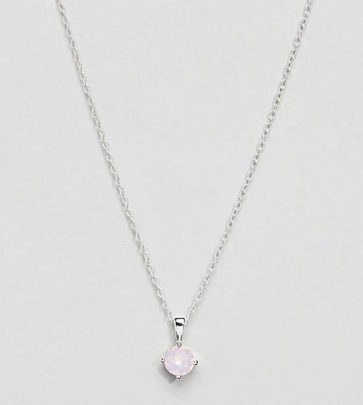 Accessorize Sterling Silver Swarovski Pendant Necklace - Pink