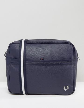 Fred Perry Scotch Grain Messenger Bag In Navy - Navy