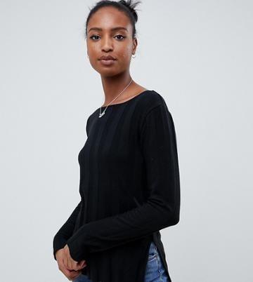 Asos Design Tall Sweater In Deep Rib - Black
