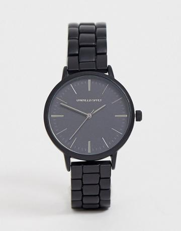 Asos Design Bracelet Watch In Black - Black