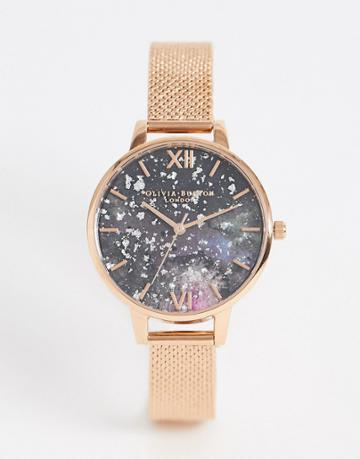 Olivia Burton Celestial Watch In Rose Gold