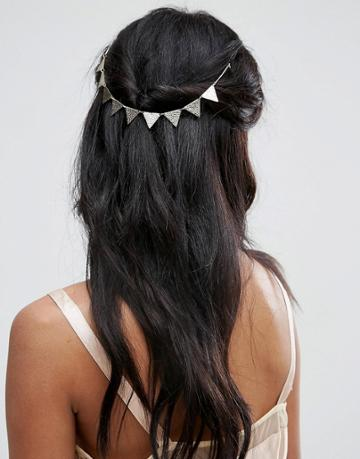 Asos Bunting Back Hair Crown - Gold