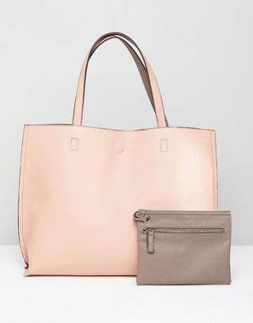 Street Level Large Reversible Blush And Gray - Beige