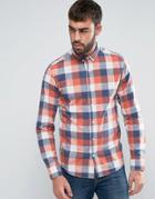 Only & Sons Slim Fit Check Shirt - Red