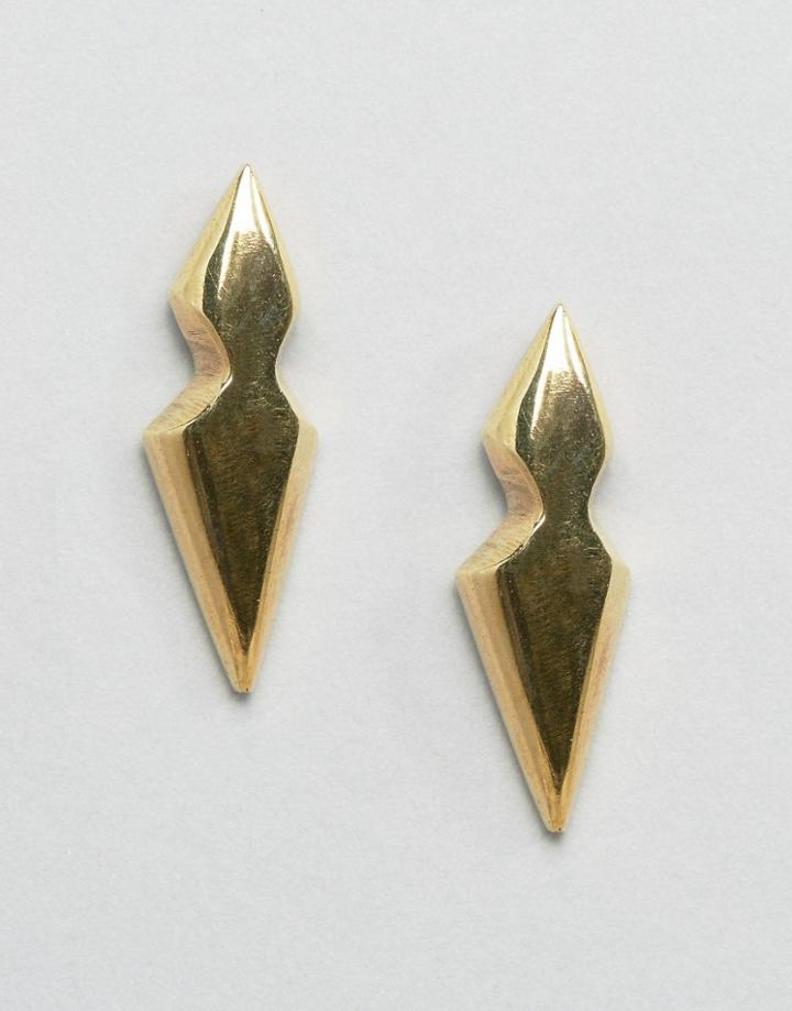 Made Liiche Stud Earrings - Gold
