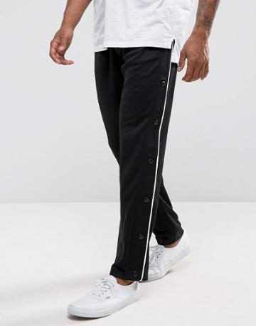 Asos Mesh Polytricot Jogger With Popper Side Panel - Black