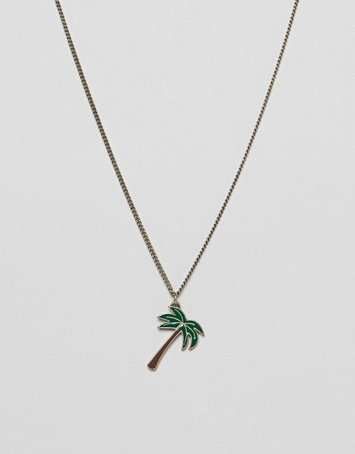 Classics 77 Palm Tree Pendant Necklace - Silver