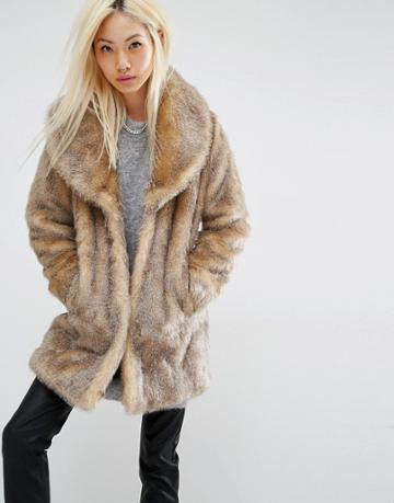 Unreal Fur Elixir Faux Fur Coat - Brown