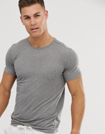 Jack & Jones Premium Muscle Fit T-shirt In Gray - Gray