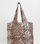 My Accessories London Leopard Print Cotton Tote Bag - Multi