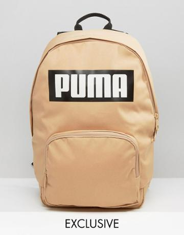 Puma Exclusive To Asos Logo Backpack In Sand - Brown