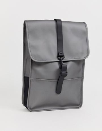 Rains 1280 Mini Waterproof Backpack In Metallic Gray