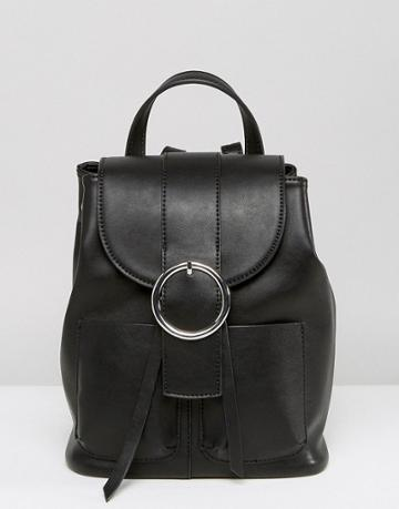 Asos Buckle Backpack - Black