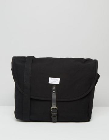 Sandqvist Jack Messenger Bag In Black - Black