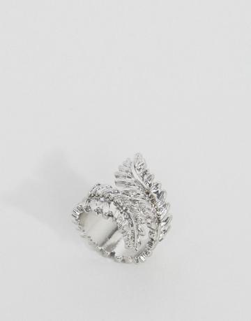 Asos Leaf Ring - Silver