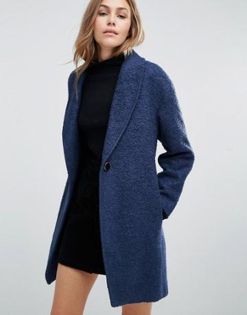 Closet Slouchy Wool Coat - Blue
