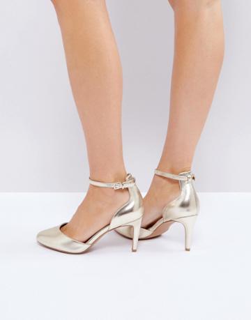 Asos Swallow Heels - Gold