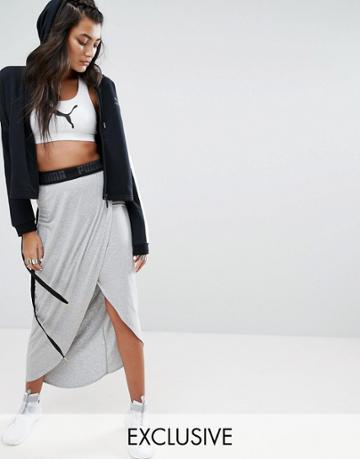 Puma Exclusive To Asos Wrap Skirt - Gray