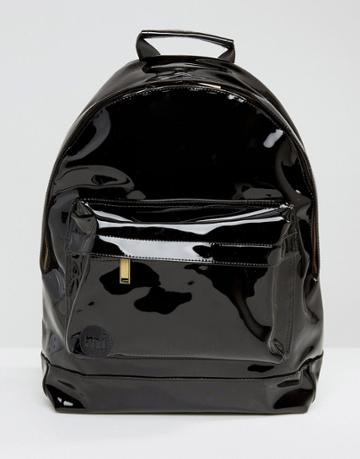 Mi-pac Black Patent Backpack - Black