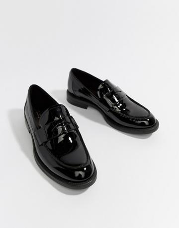 Vagabond Amina Patent Leather Loafer - Black