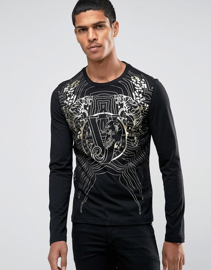Versace Longsleeve T-shirt With Print - Black
