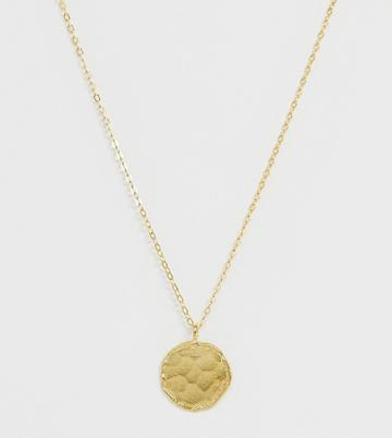 Ottoman Hands Exclusive Gold Plated Coin Necklace On Satellite Chain - Gold