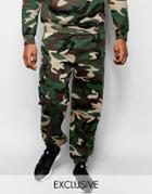 Reclaimed Vintage Camo Joggers - Green