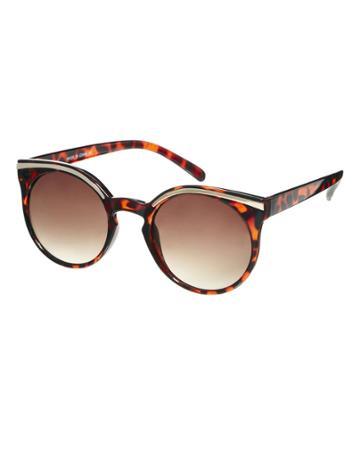 Asos Kitten Sunglasses With Metal Top