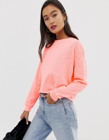 New Look Top In Neon Orange - Orange