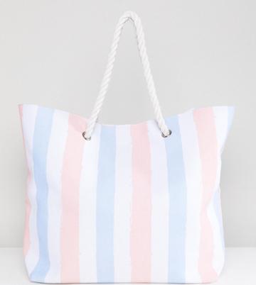 South Beach Stripe Beach Bag - Multi