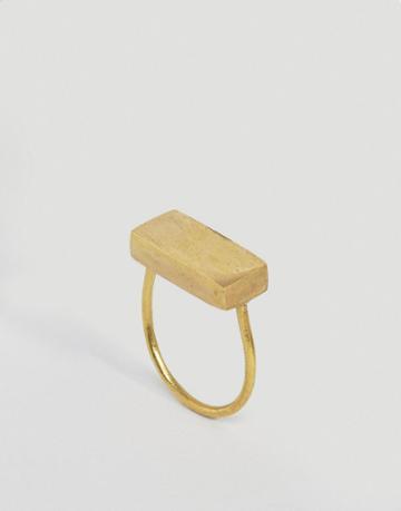 Made Bar Ring - Gold