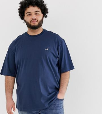 Only & Sons T-shirt With Embroidery - Blue