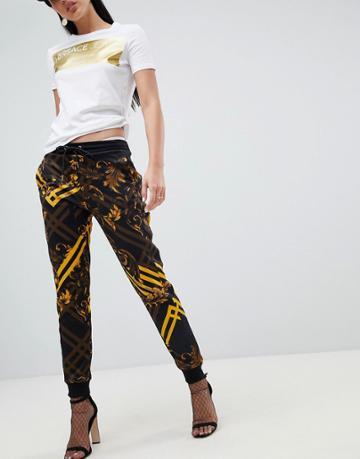 Versace Jeans Baroque Print Jogger - Black