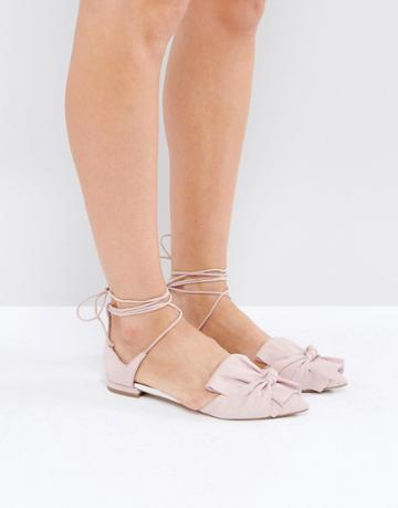 Asos Lottery Knotted Ballet Flats - Beige