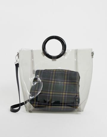New Look Perspex Tote Bag - Black