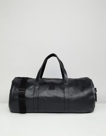 Jack & Jones Faux Leather Duffel Bag - Black